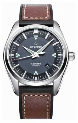 Eterna Mens Kontiki Three Hand Automatic Leather Strap 1222.41.41.1301