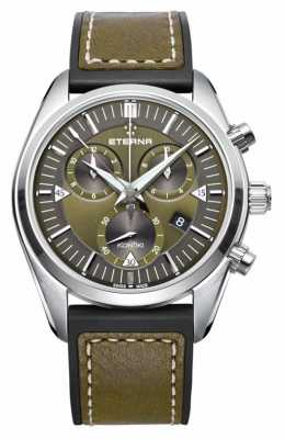 Eterna Mens Kontiki Chronograph Quartz Green 1250.41.50.1360