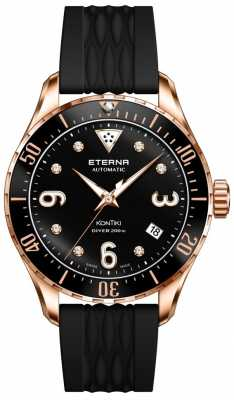Eterna Womans Kontiki Automatic Diver Black Rose Gold 1280.64.49.1381