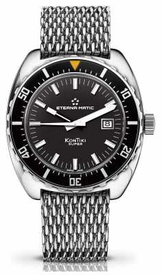 Eterna Mens Heritage Super Kontiki Limited Edition Automatic Black 1973.41.41.1230