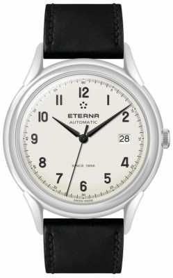 Eterna Mens Heritage 1948 Automatic Black Leather Strap 2955.41.94.1388