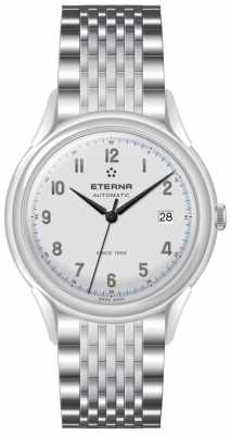 Eterna Mens Heritage 1948 Automatic Steel Mesh 2955.41.14.1741