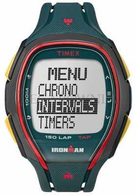 Timex Mens Indiglo Iron Man Alarm Chronograph Green TW5M00700
