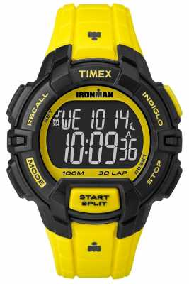 Timex Mens Indiglo Iron Man Rugged Alarm Chronograph Yellow TW5M02600