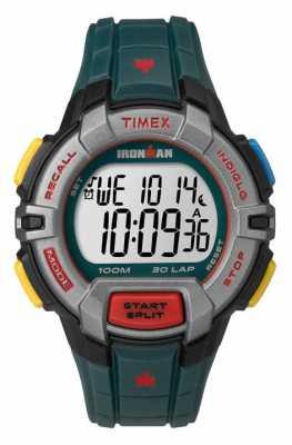 Timex Mens Indiglo Iron Man Rugged Alarm Chronograph Dark Green TW5M02200