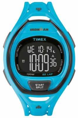 Timex Mens Indiglo Iron Man Sleek Alarm Chronograph Blue TW5M01900