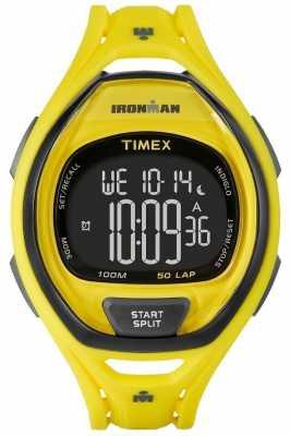 Timex Mens Indiglo Iron Man Sleek Alarm Chronograph Yellow TW5M01800