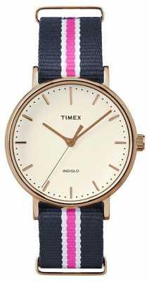 Timex Womans Weekender Fairfax Navy Pink Strap TW2P91500