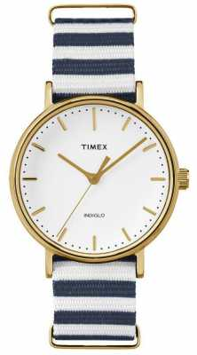 Timex Unisex Weekender Fairfax Watch Blue White Strap TW2P91900