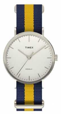 Timex Unisex Weekender Fairfax Navy Yellow Strap TW2P90900