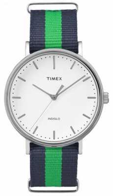 Timex Unisex Weekender Fairfax Navy Green Strap TW2P90800