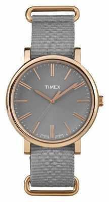 Timex Unisex Grey Dial Grey Fabric Strap TW2P88600