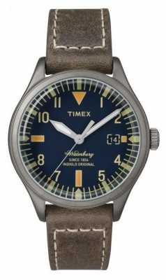 Timex Unisex The Waterbury Navy Dial Brown Strap TW2P84400