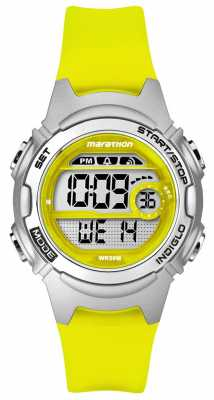 Timex Childrens Marathon Alarm Chronograph Yellow TW5K96700