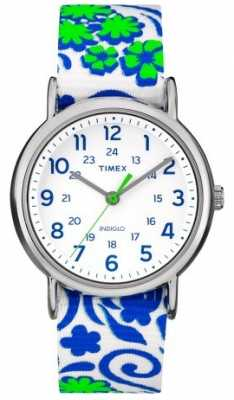 Timex Womans Floral Weekender Watch Blue TW2P90300