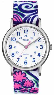 Timex Womans Floral Weekender Watch Purple TW2P90200