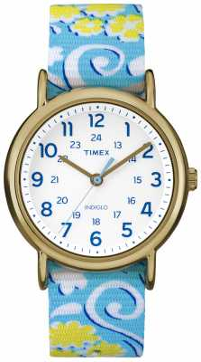 Timex Womans Floral Weekender Blue Yellow TW2P90100