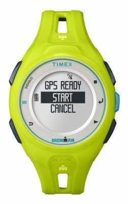 Timex Unisex Iron Man Run GPS Alarm Chronograph Green TW5K87500