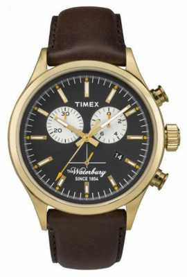 Timex Mens The Waterbury Chronograph Brown Leather Strap TW2P75300