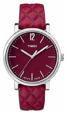 Timex Womans Wine Quilted Leather Strap Wine Dial TW2P71200