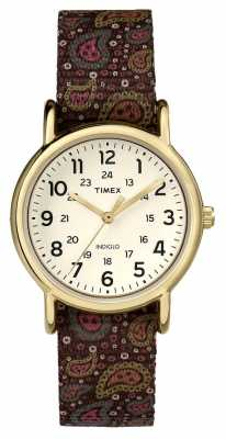 Timex Womans Weekender Brown Paisley TW2P81200