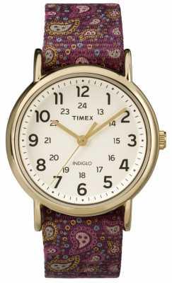 Timex Womans Weekender Purple Paisley TW2P81000