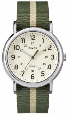 Timex Mens Weekender Watch Cream Khaki TW2P72100