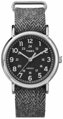 Timex Mens Weekender Watch Grey Fabric Strap TW2P72000