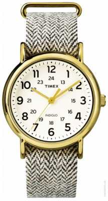Timex Womans Weekender Watch Grey Fabric Strap TW2P71900