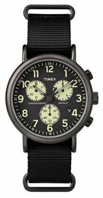 Timex Mens Weekender Black Chronograph TW2P71500