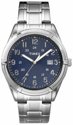 Timex Mens Easton Avenue Stainless Steel Navy TW2P76400