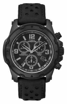 Timex Mens Rugged Chronograph Black TW4B01400