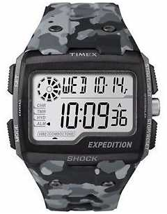 Timex Mens Grid Shock Alarm Chronograph Grey TW4B03000