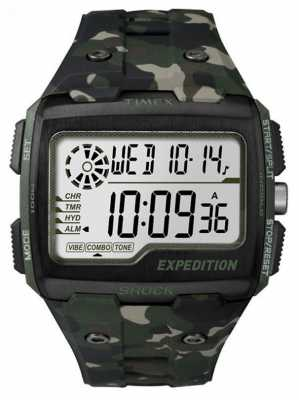 Timex Mens Grid Shock Alarm Chronograph Khaki TW4B02900