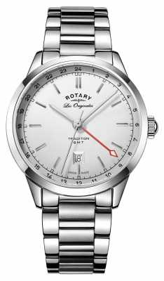Rotary Mens Stainless Steel Strap Silver Dial GB90181/02