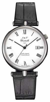 J&T Windmills Mens Threadneedle Mechanical Watch Black Straps WGS10004/01