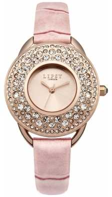 Lipsy Womens Pink Strap Rose Gold Dial LP446