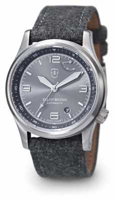Elliot Brown Mens Tyneham Grey Strap Grey Dial Display Caseback 305-D02-F01