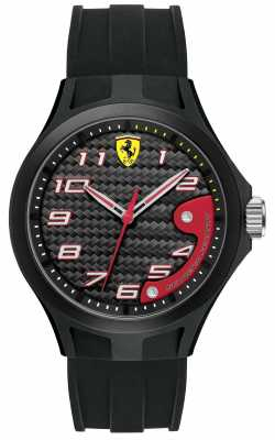 Scuderia Ferrari Black Silicone Lap Time Watch 0830288