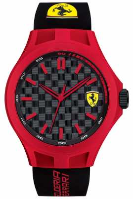 Scuderia Ferrari Mens Pit Crew Black Rubber Strap Red Case Black Dial 0830287