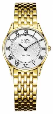 Rotary Womens Les Originales Ultra Slim White Dial LB90803/01
