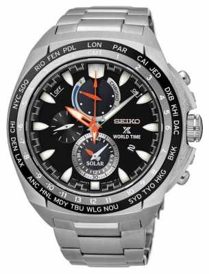 Seiko Prospex World Time Solar Powered Stainless Steel SSC487P1