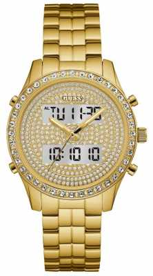 Guess Womens Glitterati Digital Gold Dial W0817L2
