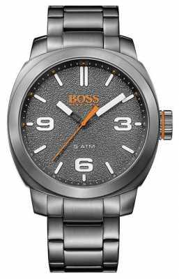 Hugo Boss Orange Mens Grey Tone Stainless Steel Grey Dial 1513420