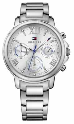 Tommy Hilfiger Womens Claudia Stainless Steel Bracelet Silver Tone Dial 1781741