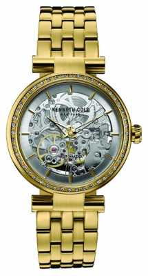 Kenneth Cole Womens Gold Tone Stainless Steel Silver Dial KC10030807