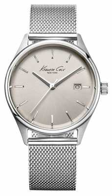 Kenneth Cole Womens Stainless Steel Mesh Bracelet Silver Tone Dial KC10029399