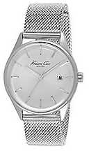 Kenneth Cole Womens Rose Gold Tone Stainless Steel Mesh Tose Gold Dial KC10029400