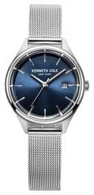 Kenneth Cole Womens Stainless Steel Mesh Blue Dial KC10030841