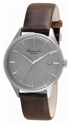 Kenneth Cole Mens Tan Leather Strap Black Dial KC10030792